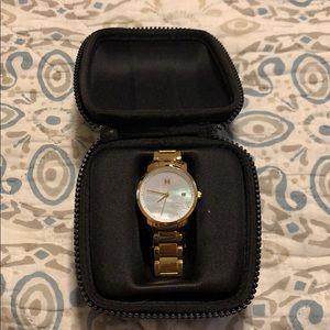 Gold MVMT watch - WORN ONCE